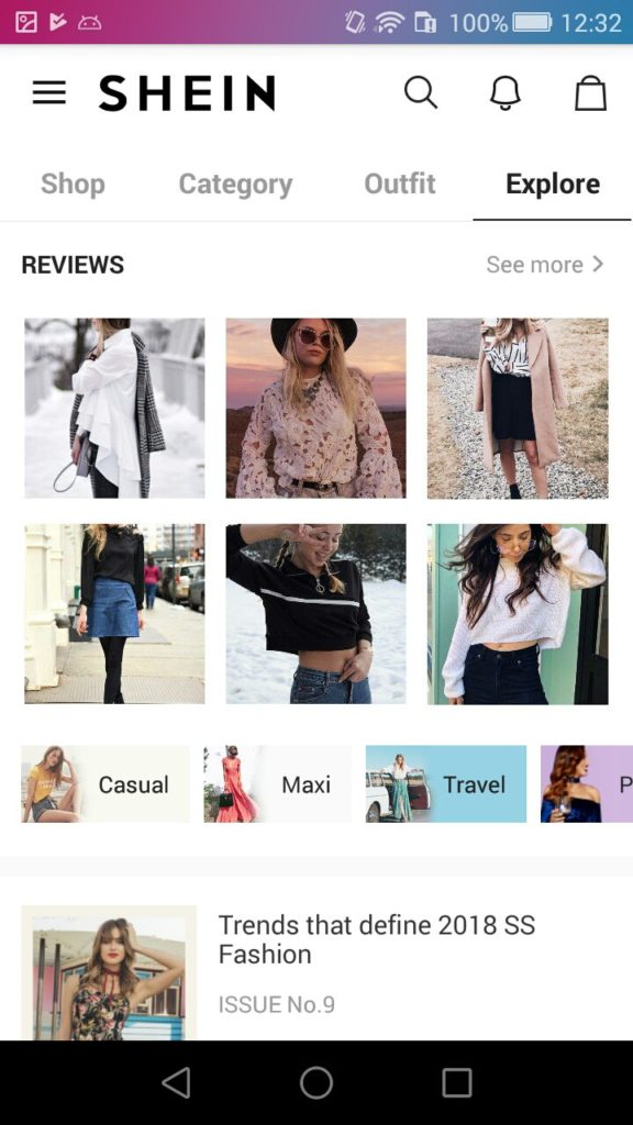 Shein app features review