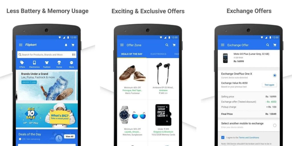 Flipkart shopping app preview